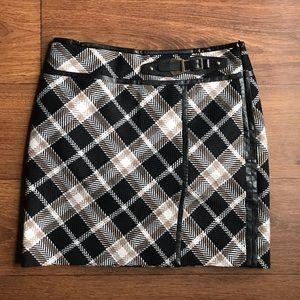 White House Black Market Plaid Dressy Skirt Size 6